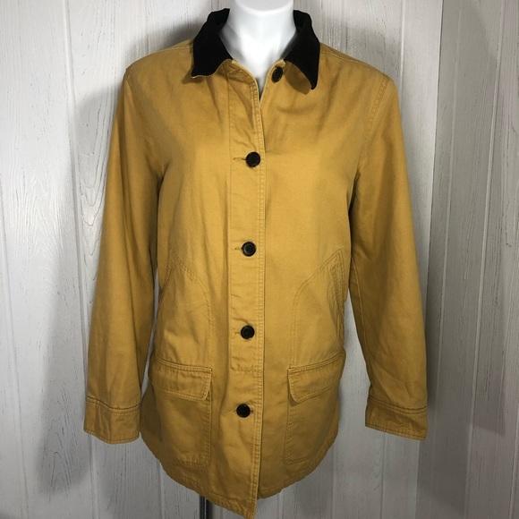 Lands' End Jackets & Blazers - Lands End Barn Field Coat L Gold Corduroy Collar L